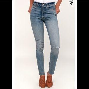 NWT Free People Stella High Waist Skinny Jeans, 28